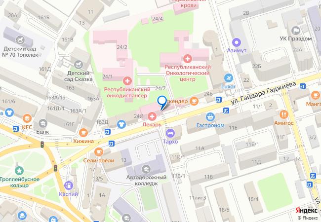 dc057a1aa проспект Алигаджи Акушинского, дом 24Е на карте Махачкалы подробно