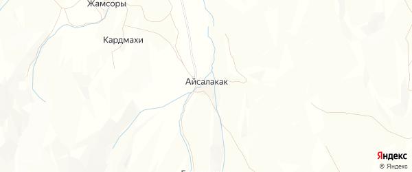 Карта хутора Айсалакака в Дагестане с улицами и номерами домов