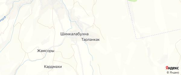Карта хутора Тарланкака в Дагестане с улицами и номерами домов