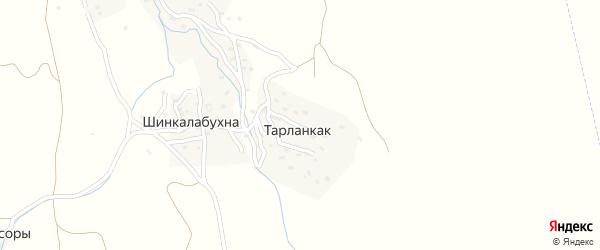 Улица Багандова Г.Б. на карте хутора Тарланкака Дагестана с номерами домов