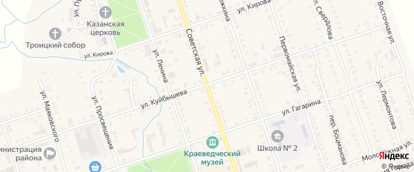 Советская улица на карте Цивильска с номерами домов