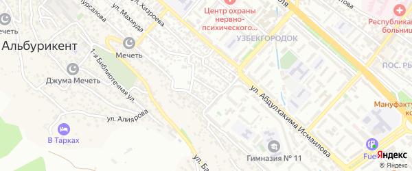 Проектная 3-я улица на карте Махачкалы с номерами домов