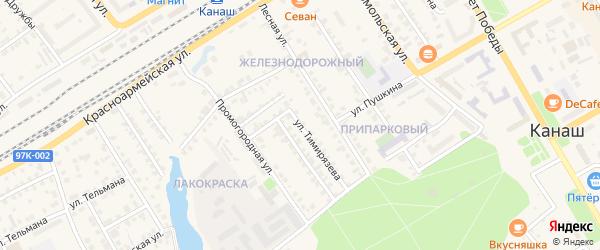 Улица Тимирязева на карте Канаша с номерами домов