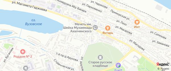 3-й Вузовский тупик на карте Махачкалы с номерами домов