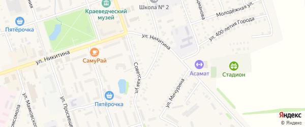 Улица Братьев Сарапиных на карте Цивильска с номерами домов