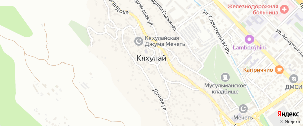 Абдулманапова 1-я улица на карте поселка Кяхулая с номерами домов