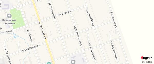 Первомайская улица на карте Цивильска с номерами домов
