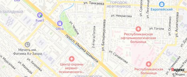 Лермонтова 2-й проезд на карте Махачкалы с номерами домов