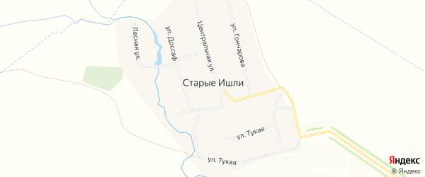 Карта села Старые Ишли в Татарстане с улицами и номерами домов