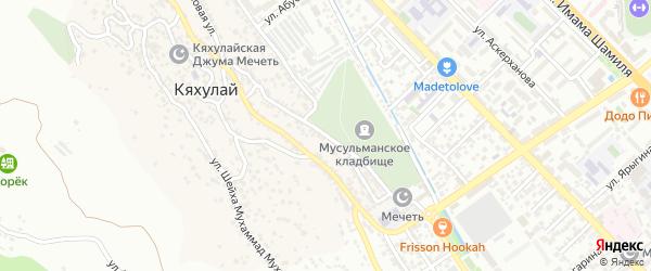 Улица Магомеда Ибрагимова на карте поселка Кяхулая с номерами домов