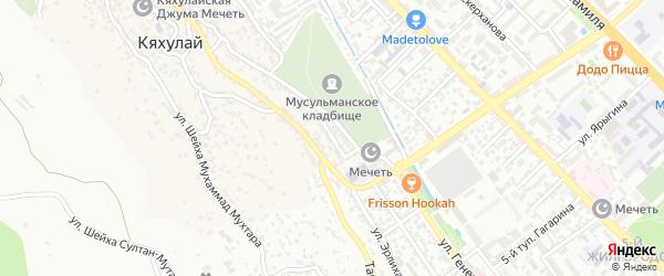 Проезд Магомеда Ибрагимова на карте поселка Кяхулая с номерами домов