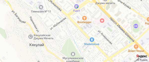 Азиза Алиева 1-й проезд на карте Махачкалы с номерами домов