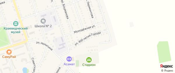 Улица 400-летия г.Цивильска на карте Цивильска с номерами домов