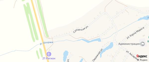 Солнечная улица на карте деревни Малые Бикшихи с номерами домов