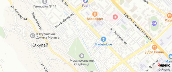 Азиза Алиева 2-й проезд на карте Махачкалы с номерами домов