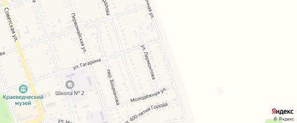 Улица Лермонтова на карте Цивильска с номерами домов