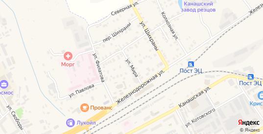 Улица Мира в Канаше с номерами домов на карте. Спутник и схема онлайн