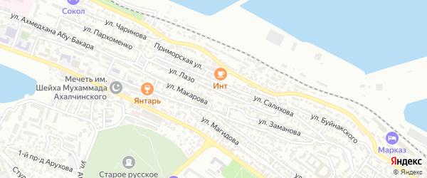Улица Лазо на карте Махачкалы с номерами домов
