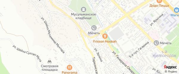 Библиотечная 1-я улица на карте поселка Альбурикента с номерами домов