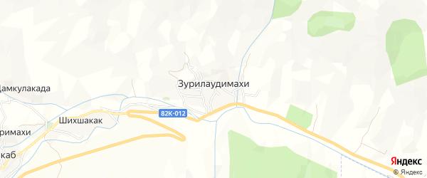 Карта села Зурилаудимахи в Дагестане с улицами и номерами домов