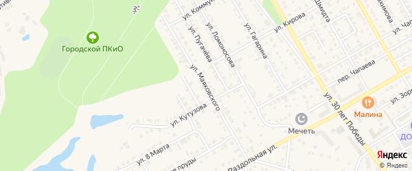 Улица Маяковского на карте Канаша с номерами домов