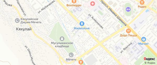 Азиза Алиева 4-й проезд на карте Махачкалы с номерами домов