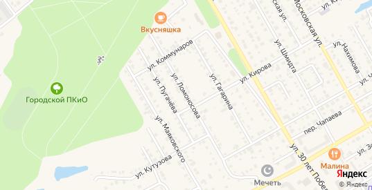 Улица Ломоносова в Канаше с номерами домов на карте. Спутник и схема онлайн