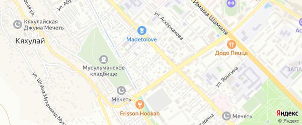 Азиза Алиева 6-й проезд на карте Махачкалы с номерами домов