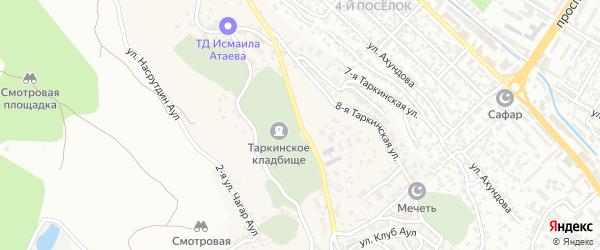 Таркинская улица на карте поселка Кяхулая с номерами домов