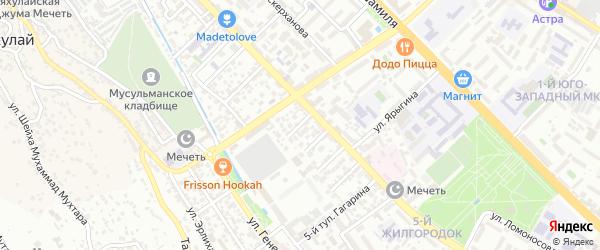 Улица Аликберова на карте Махачкалы с номерами домов
