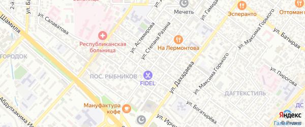 Улица Мусы Карабудагова на карте Махачкалы с номерами домов
