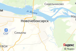 Карта г. Новочебоксарск Чувашская Республика