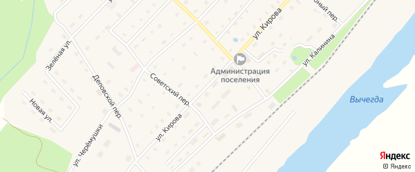 Улица Кирова на карте поселка Харитоново с номерами домов