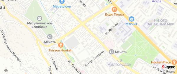 Улица Казиханова на карте Махачкалы с номерами домов