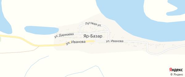 Заречная улица на карте села Яра-Базара Астраханской области с номерами домов