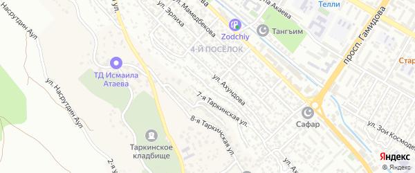 Таркинская 5-я улица на карте поселка Тарки с номерами домов