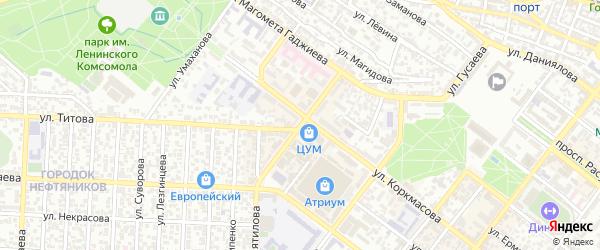 Улица Толстого на карте Махачкалы с номерами домов