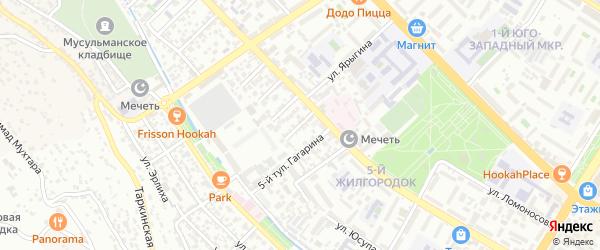 Гагарина 4-й тупик на карте Махачкалы с номерами домов