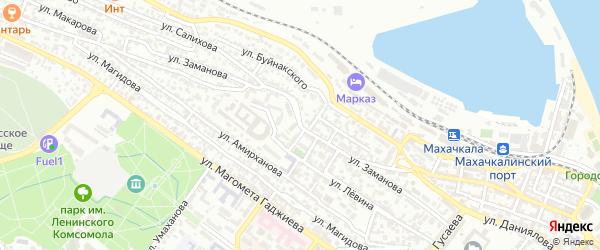 Улица Заманова на карте Махачкалы с номерами домов