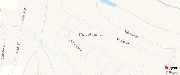 Шоссейная улица на карте деревни Сугайкас с номерами домов
