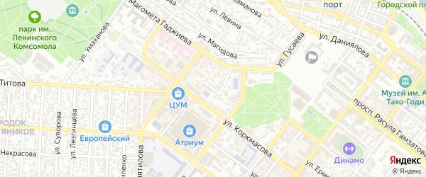 Переулок Анвара Аджиева на карте Махачкалы с номерами домов