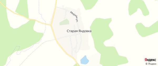 Карта села Старой Яндовки в Ульяновской области с улицами и номерами домов
