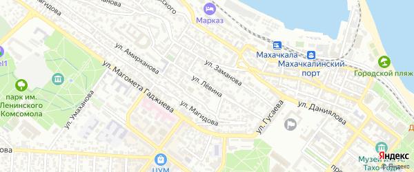 Улица Левина на карте Махачкалы с номерами домов