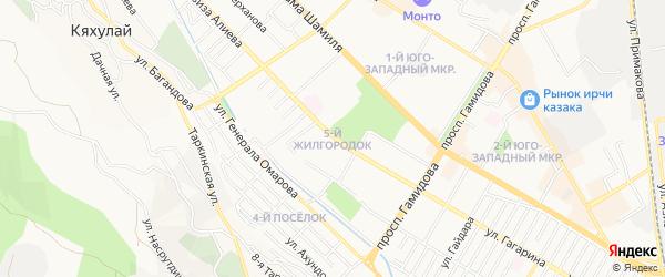 Микрорайон М-5 на карте Махачкалы с номерами домов