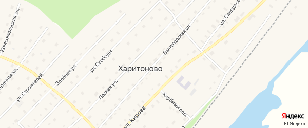 Вычегодская улица на карте поселка Харитоново с номерами домов