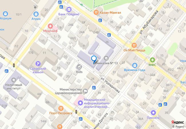 f0205d586 улица Абубакарова, 8 на карте-панораме Махачкалы, организации, фото ...