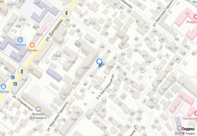 dea5b873e улица М. Горького, 44 на карте-панораме Махачкалы, организации, фото ...