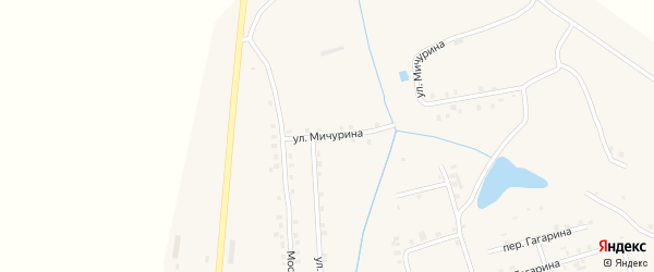 Улица Мичурина на карте села Ухманы с номерами домов