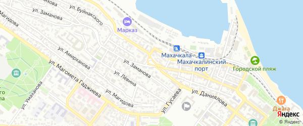Площадь Коминтерна на карте Махачкалы с номерами домов