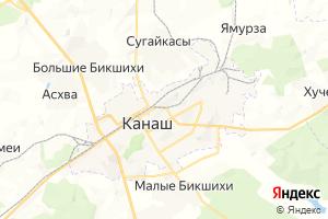 Карта г. Канаш Чувашская Республика
